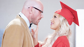 Gorgeous graduate gets power-fucked by will not hear of professor
