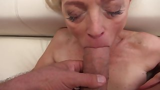 Sweet newborn and surprising granny have fun with big cocks