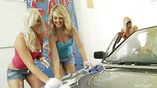 Butyraceous lesbian porn star orgy with Michelle Thorne and her friends