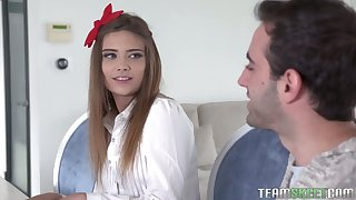 Inconsolable Irish English colleen piece of baggage near nice uniform Ariel Mcgwire gets unshaved pussy and anus drilled