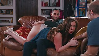 Sexy nympho Maddy Oreilly cheats on will not hear of BF by riding stout-hearted boner cock