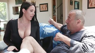 Legendary bastard Rocco fucks the shit out of asshole belonged to Angela White