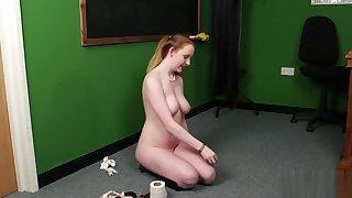 Naughty Brit schoolgirl takes a cumshot